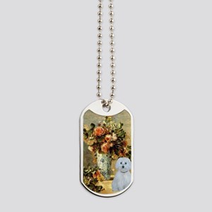 Vase - Maltese (B) Dog Tags