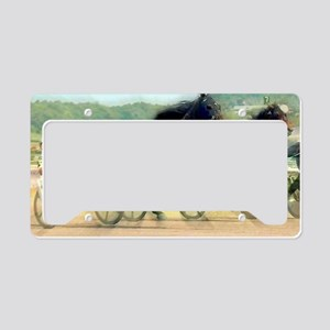 trotting power License Plate Holder