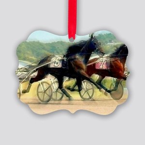 trotting power Picture Ornament