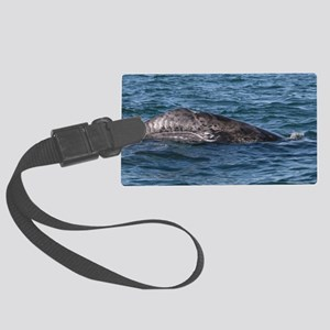 baby whale Large Luggage Tag