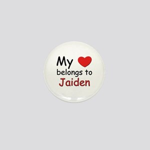 My heart belongs to jaiden Mini Button