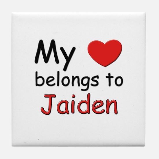 My heart belongs to jaiden Tile Coaster