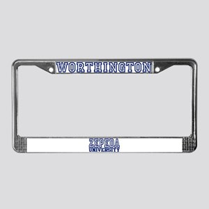 WORTHINGTON University License Plate Frame