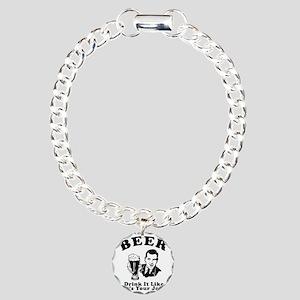 Drink Like Its Your Job Charm Bracelet, One Charm