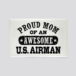 Proud Mom of an Awesome US Airman Rectangle Magnet