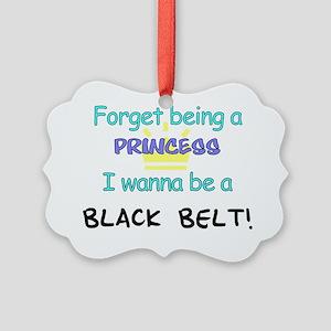 Black Belt Princess 7x7 Picture Ornament