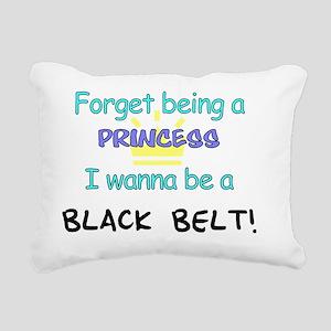 Black Belt Princess 7x7 Rectangular Canvas Pillow