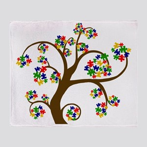 Puzzled Tree of Life Throw Blanket