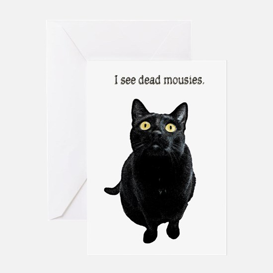 I See Dead Mousies Card Greeting Cards