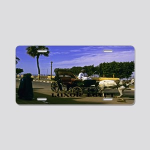 carriage driver Luxor Egypt Aluminum License Plate