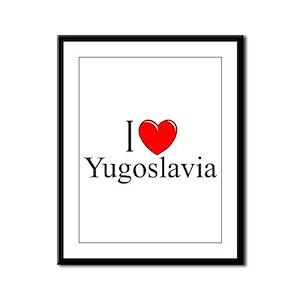 """I Love Yugoslavia"" Framed Panel Print"