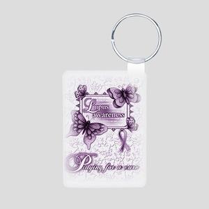 Lupus Awareness, pray for  Aluminum Photo Keychain
