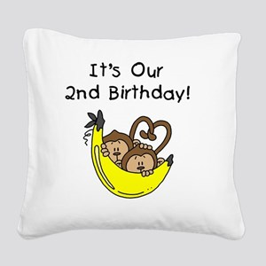 monktwinboys2nd Square Canvas Pillow