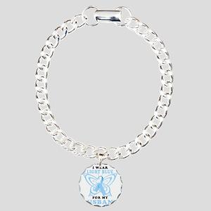 I Wear Light Blue for my Charm Bracelet, One Charm
