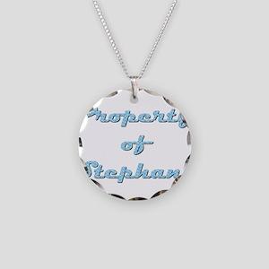 Property Of Stephany Female Necklace Circle Charm