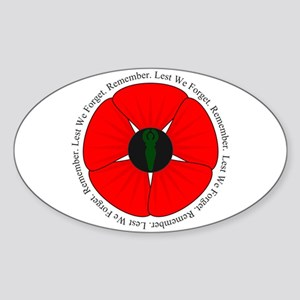 Goddess Poppy Sticker (Oval)
