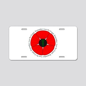 Goddess Poppy Aluminum License Plate
