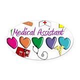 Medical assistant Oval Car Magnets