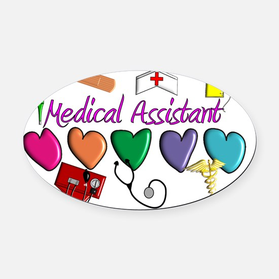 Medical Assistant Oval Car Magnet