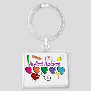 Medical Assistant Landscape Keychain