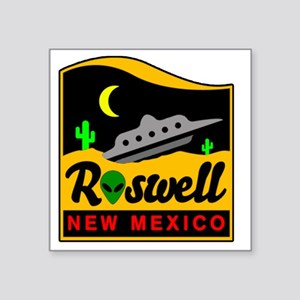 "Roswell Square Sticker 3"" x 3"""
