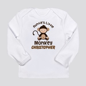 Personalized Auntie Monkey for Nephew Long Sleeve
