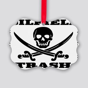 Skull Trash use dd A4 using Bcgd  Picture Ornament