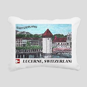 lucerne large poster Rectangular Canvas Pillow