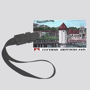 lucerne large poster Large Luggage Tag