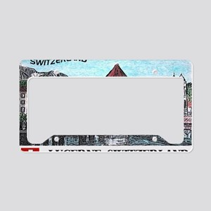 lucerne large poster License Plate Holder