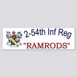 2nd Bn 54th Inf cap1 Sticker (Bumper)