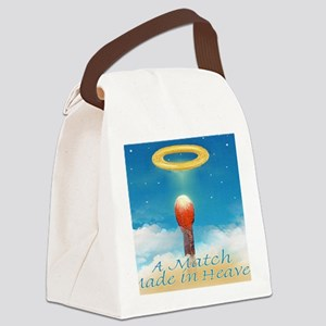 A MATCH MADE IN HEAVEN mouse pad Canvas Lunch Bag
