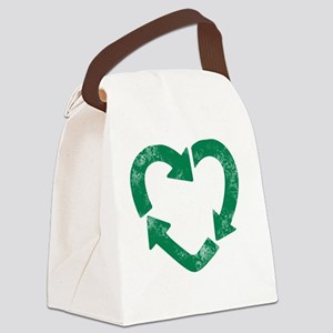 recycle heart Canvas Lunch Bag