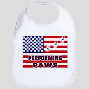 usa performing paws Baby Bib