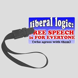 Liberal Logic Large Luggage Tag
