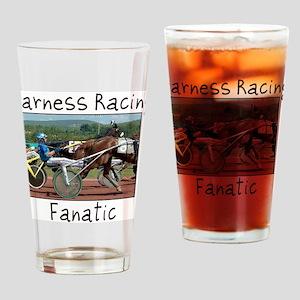 Harness Racing Fanatic Drinking Glass