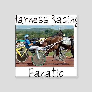 """Harness Racing Fanatic Square Sticker 3"""" x 3"""""""