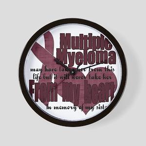 multiple myeloma sister Wall Clock