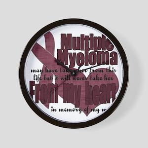 multiple myeloma mom Wall Clock