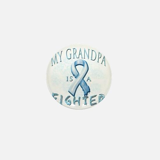 My Grandpa is a Fighter Light Blue Mini Button