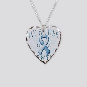 My Father is a Fighter Light  Necklace Heart Charm