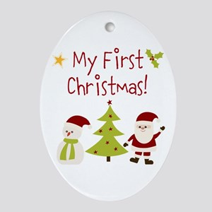 My First Christmas! Ornament (Oval)