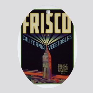 frisco trans Oval Ornament