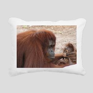 Orangs Rectangular Canvas Pillow