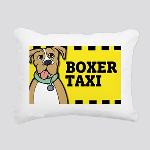 2-boxertaxisticker Rectangular Canvas Pillow