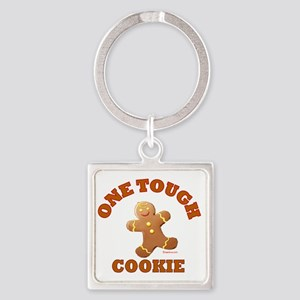ROCKWELL cookie brown Square Keychain