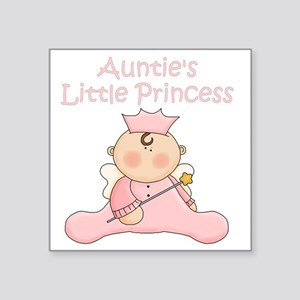 "aunties little princess Square Sticker 3"" x 3"""