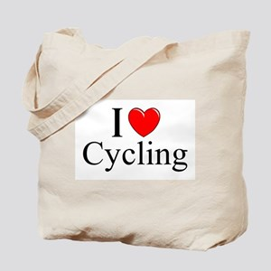 """I Love (Heart) Cycling"" Tote Bag"