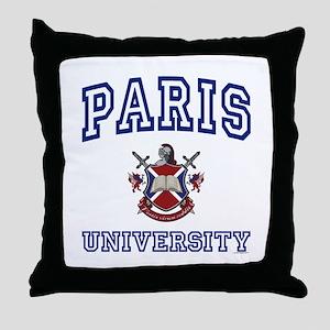 PARIS University Throw Pillow