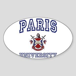PARIS University Oval Sticker